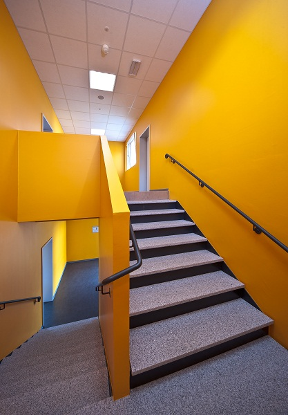 Schulcontainer Treppe